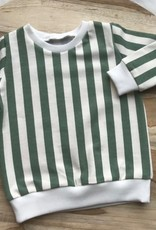 Stik-Stof Sweater groen streep
