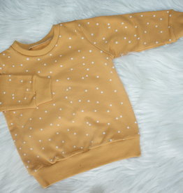 Stik-Stof Sweater oker dots