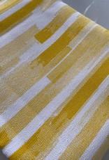 Rico Design Streep geel-wit COUPON 1.30 meter