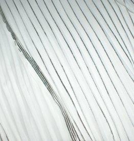 Lotte Martens Plisse wit/ zilver