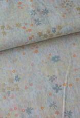 Rico Design Grey flower meadow metallic COUPON 35 cm