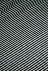 swaffing Streep zwart/ grijs jersey COUPON 1m