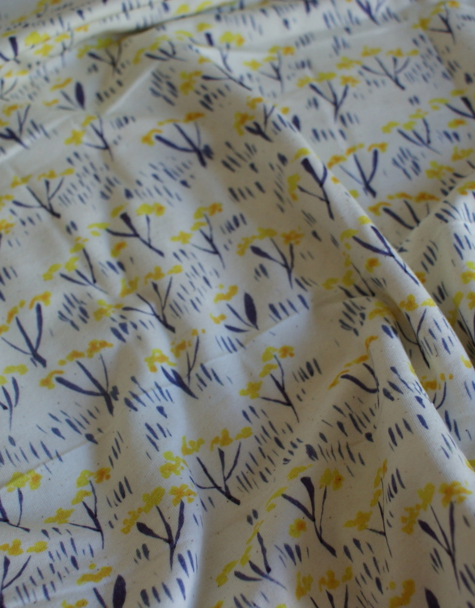 About Blue Fabrics flowers french terry COUPON 1.10m
