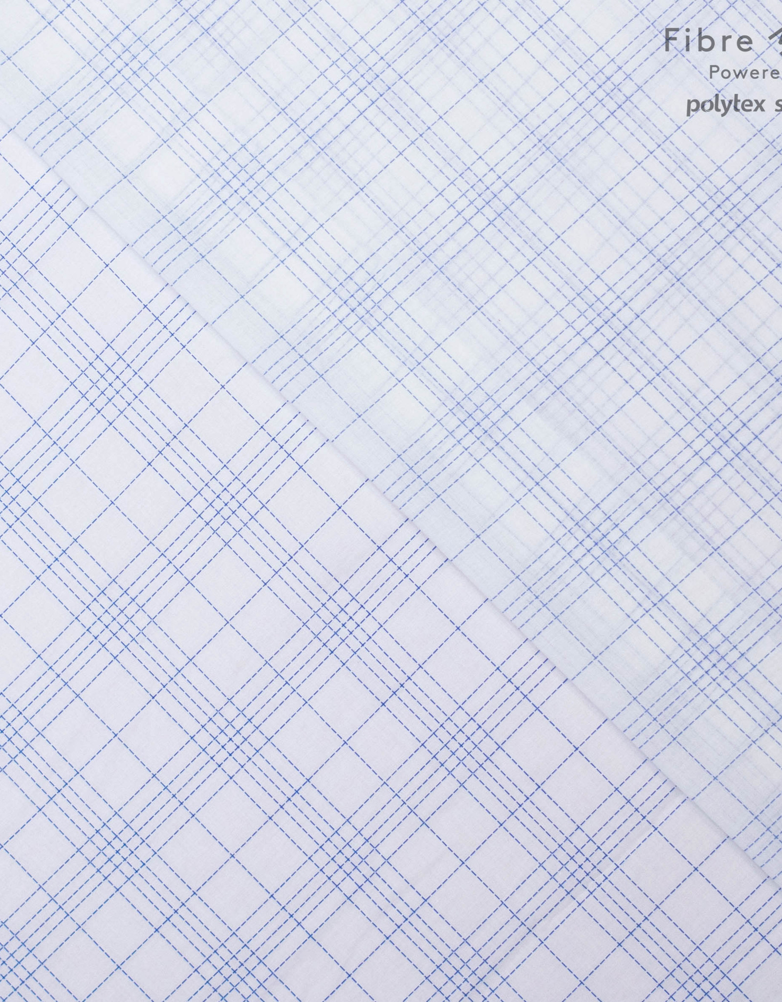 Polytex White with blue diamonds