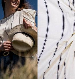 Polytex White whith black stripes   #Viola en belle Fibremood
