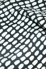 Swafing Crepe zwart/wit COUPON 65 cm