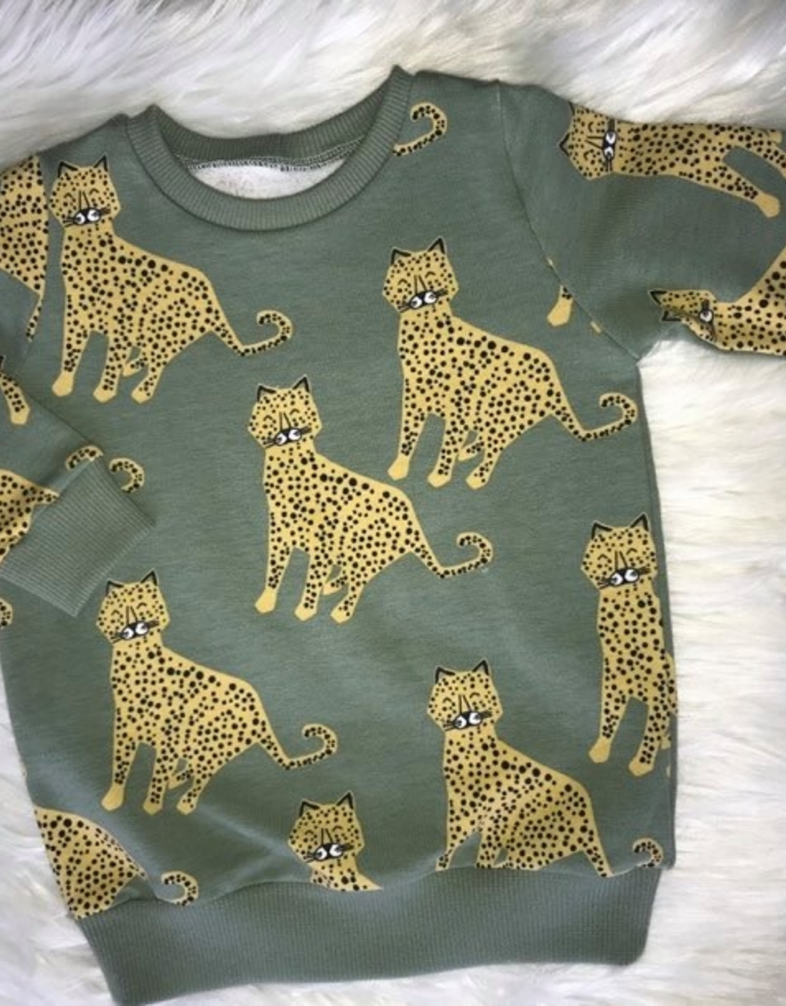 Stik-Stof Sweater Leopard