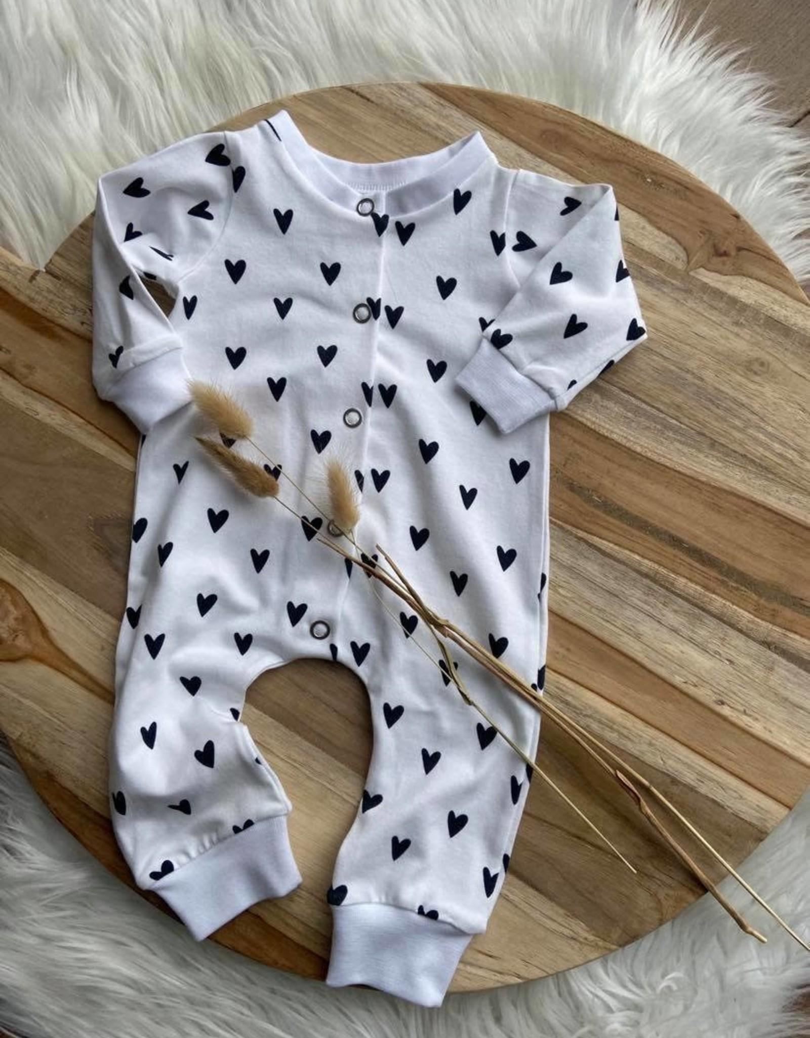Stik-Stof Boxpakje newborn 0-3 maanden Hartjes wit 56