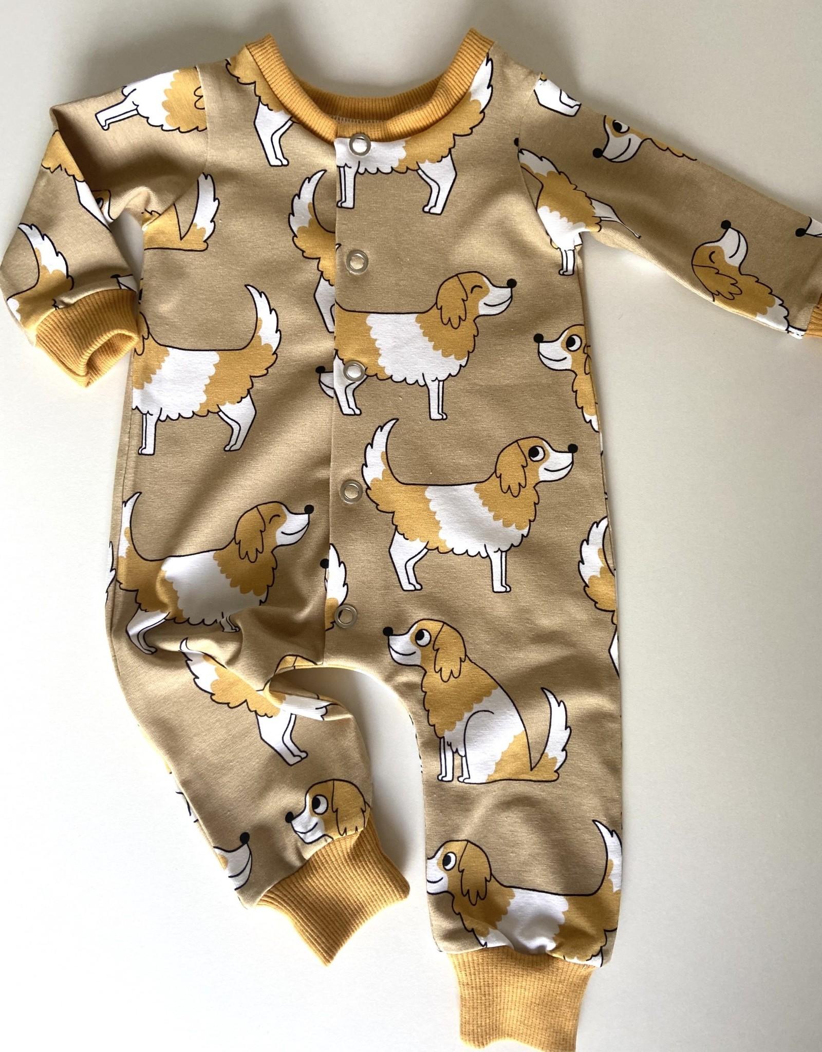 Stik-Stof Boxpakje newborn 0-3 maanden Hondjes beige Eva Mouton 56