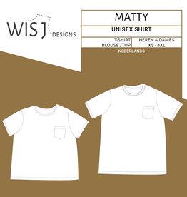 Wisj Matty unisex t-shirt papieren naaipatroon