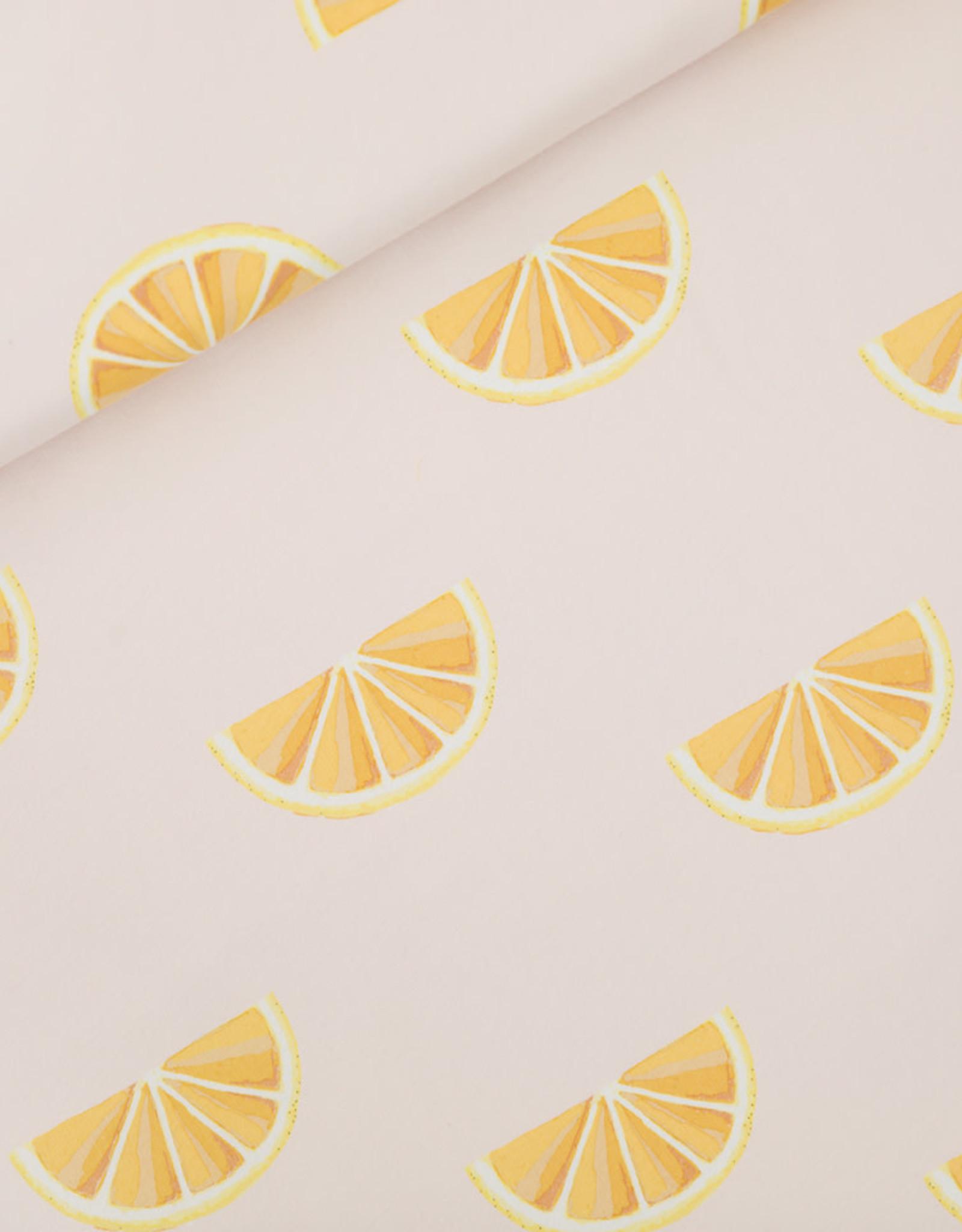 See You At Six Oranges - Cotton Canvas gabardine twill - Pimrose Pink