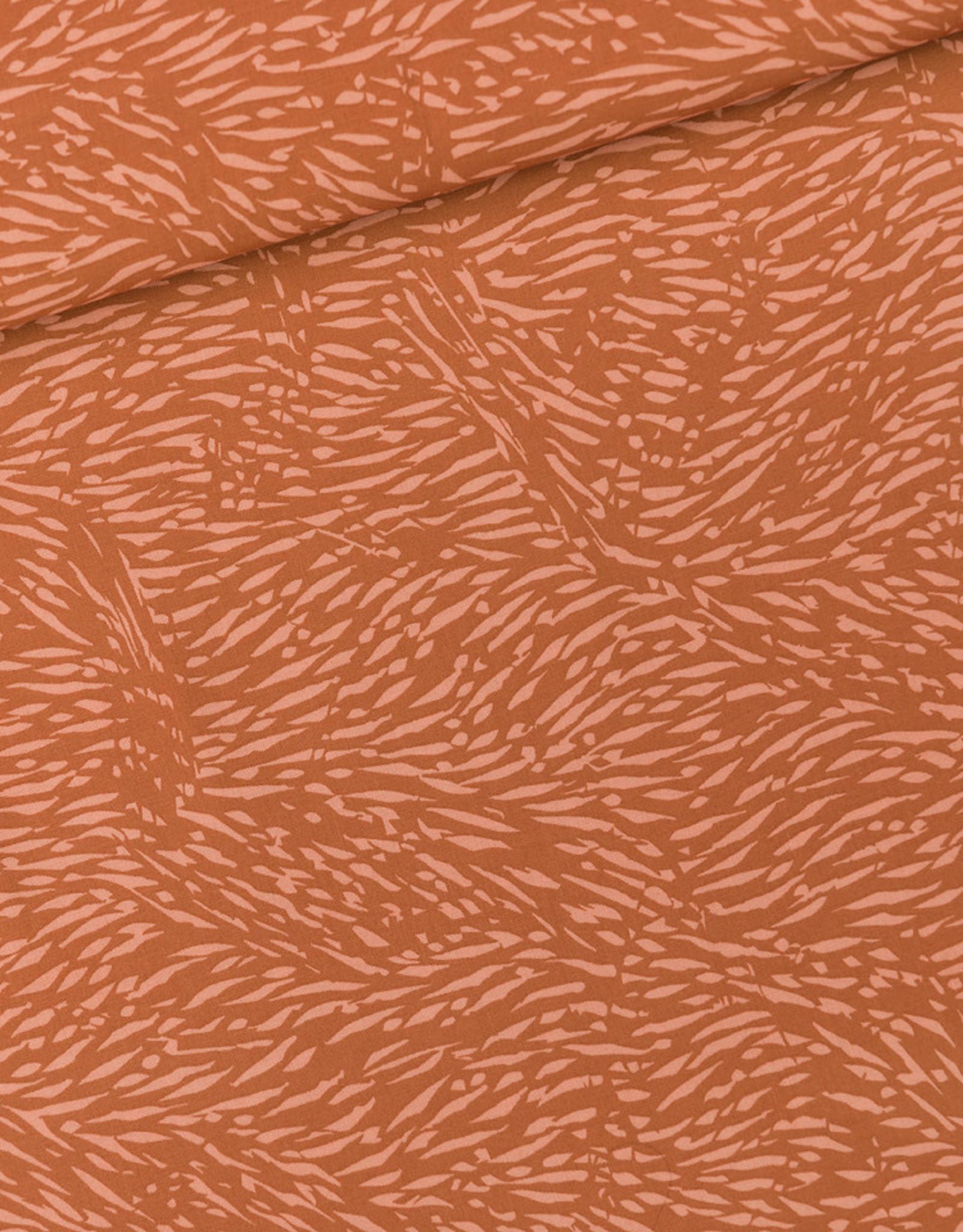 See You At Six Flecks - viscose rayon - amber brown