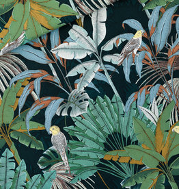 See You At Six Jungle - Cotton Canvas Gabardine Twill - Green Gables