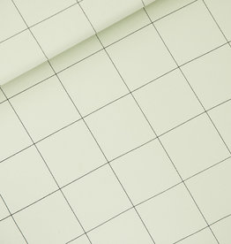 Stik-Stof Jurk lange mouw thin grid XL