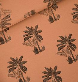 Stik-Stof Jurk lange mouw palm trees