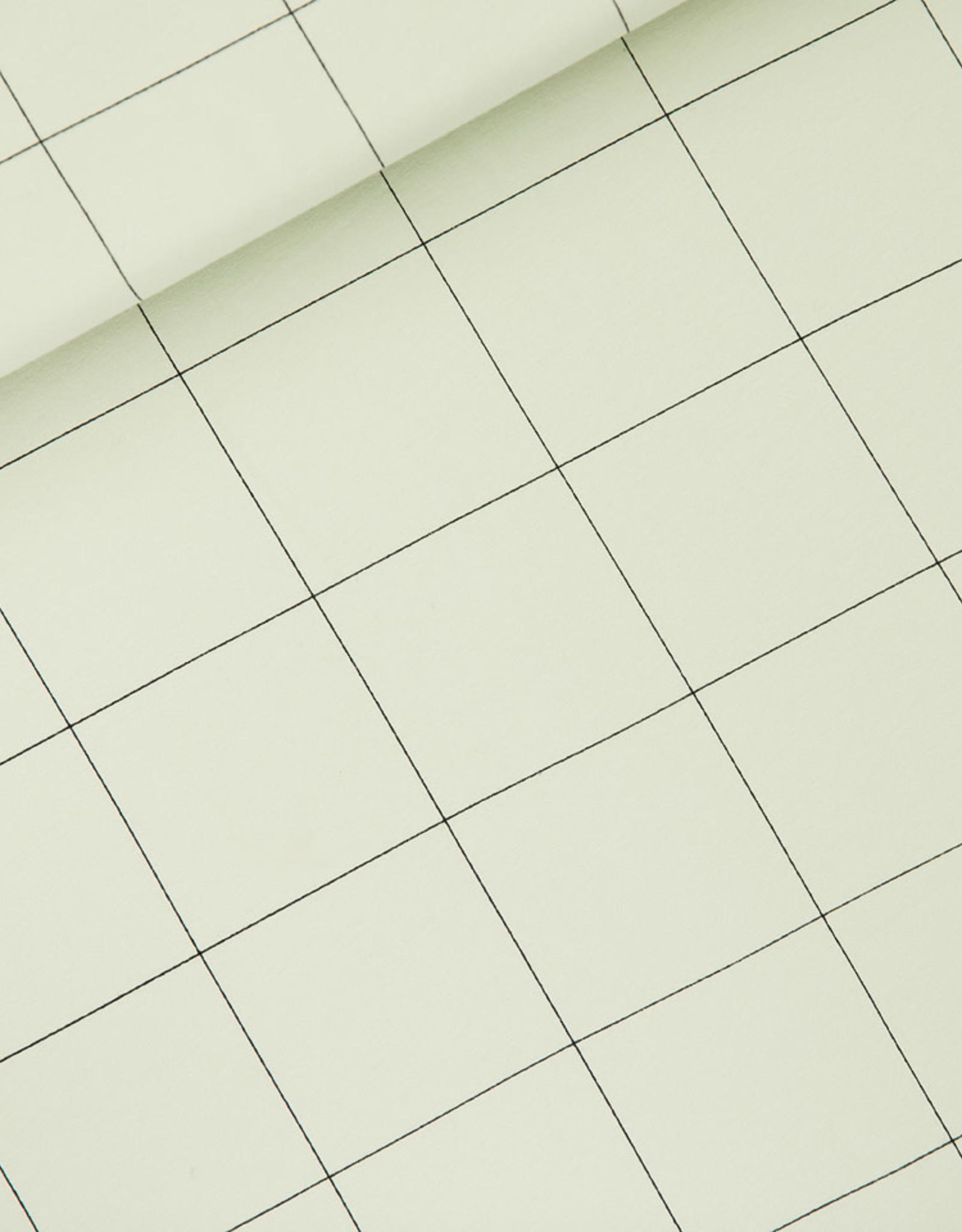 Stik-Stof Jurk korte mouw thin grid