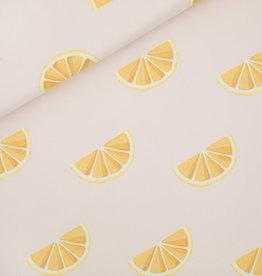 Stik-Stof Jurk korte mouw oranges