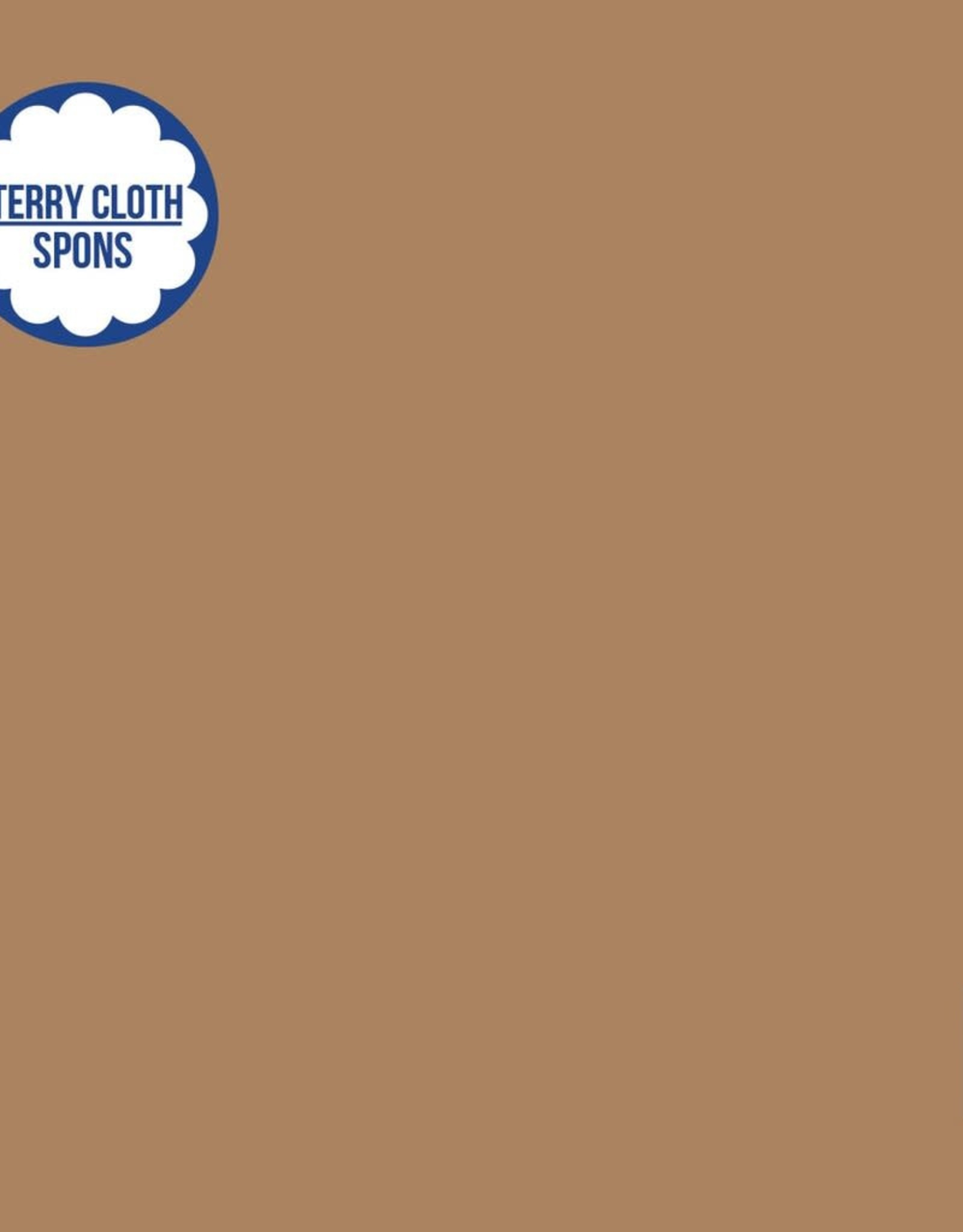 About Blue Fabrics Terry cloth uni 20 indian tan (spons)