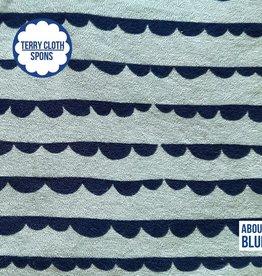 About Blue Fabrics Sea you - dotty stripes - terry cloth (spons)