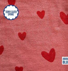 About Blue Fabrics Sea you - love u too - rose - terry cloth (spons)