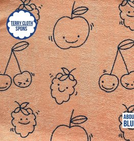 About Blue Fabrics Sea you - happy fruit - terry cloth (spons)