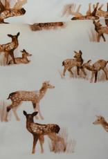 Family fabrics Fawn Snow White Jersey