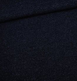 Editex Blauw gebreide stof met lurex