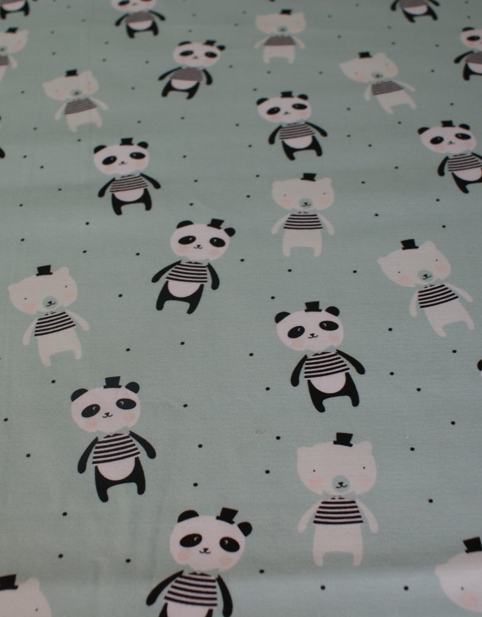 About Blue Fabrics Panda COUPON 1.10 meter