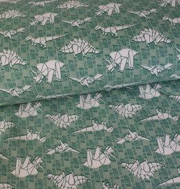 Geen merk Soft sweat paper dino green
