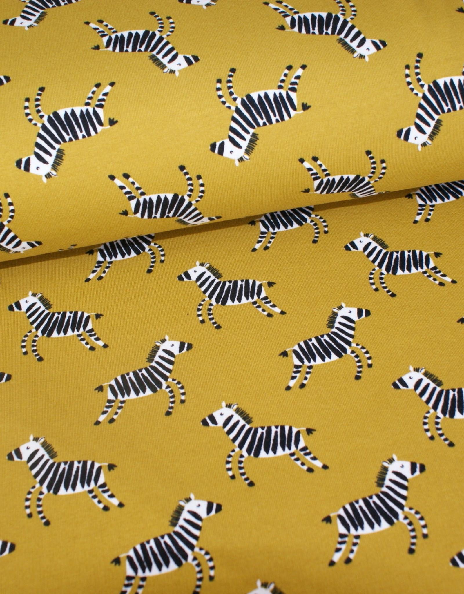 Geen merk Soft sweat zebra olive
