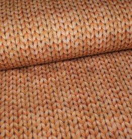 Geen merk Soft sweat knit look light brown