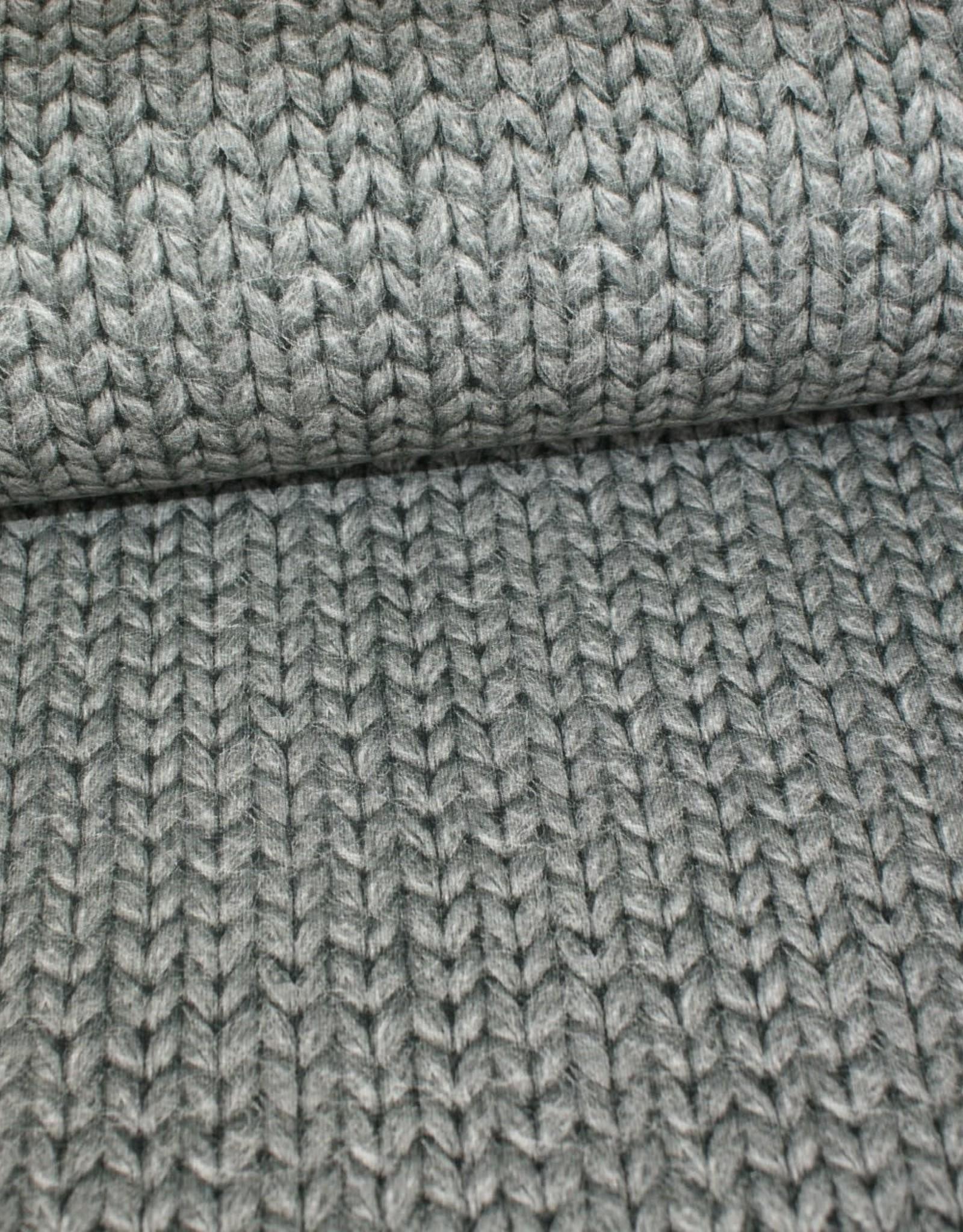 Geen merk Soft Sweat knit look grijs