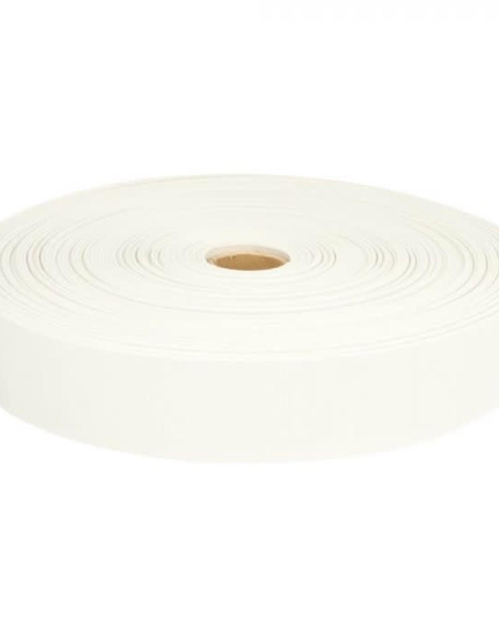 Geen merk Stevig elastiek wit 30 mm