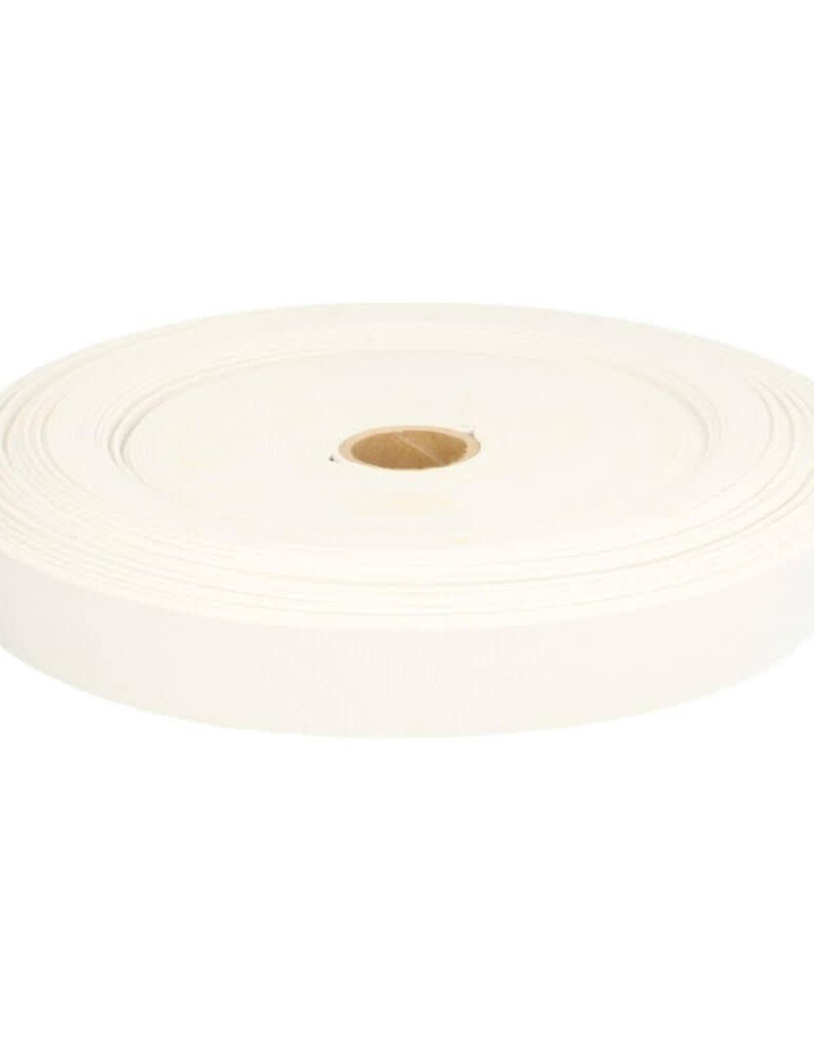 Geen merk Stevig elastiek wit 25 mm