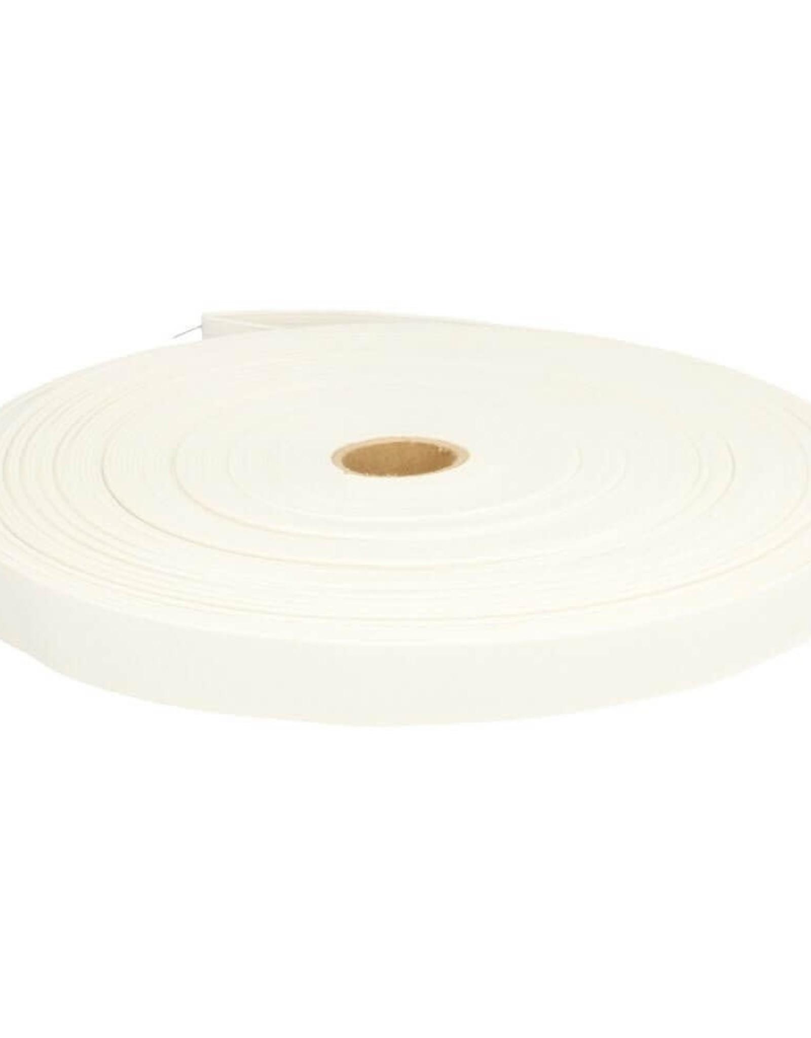 Geen merk Stevig elastiek wit 20 mm