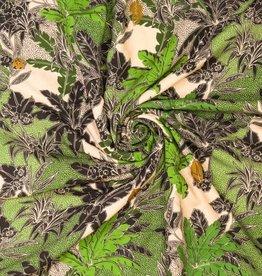 Geen merk Flower, spots ,leaves viscose