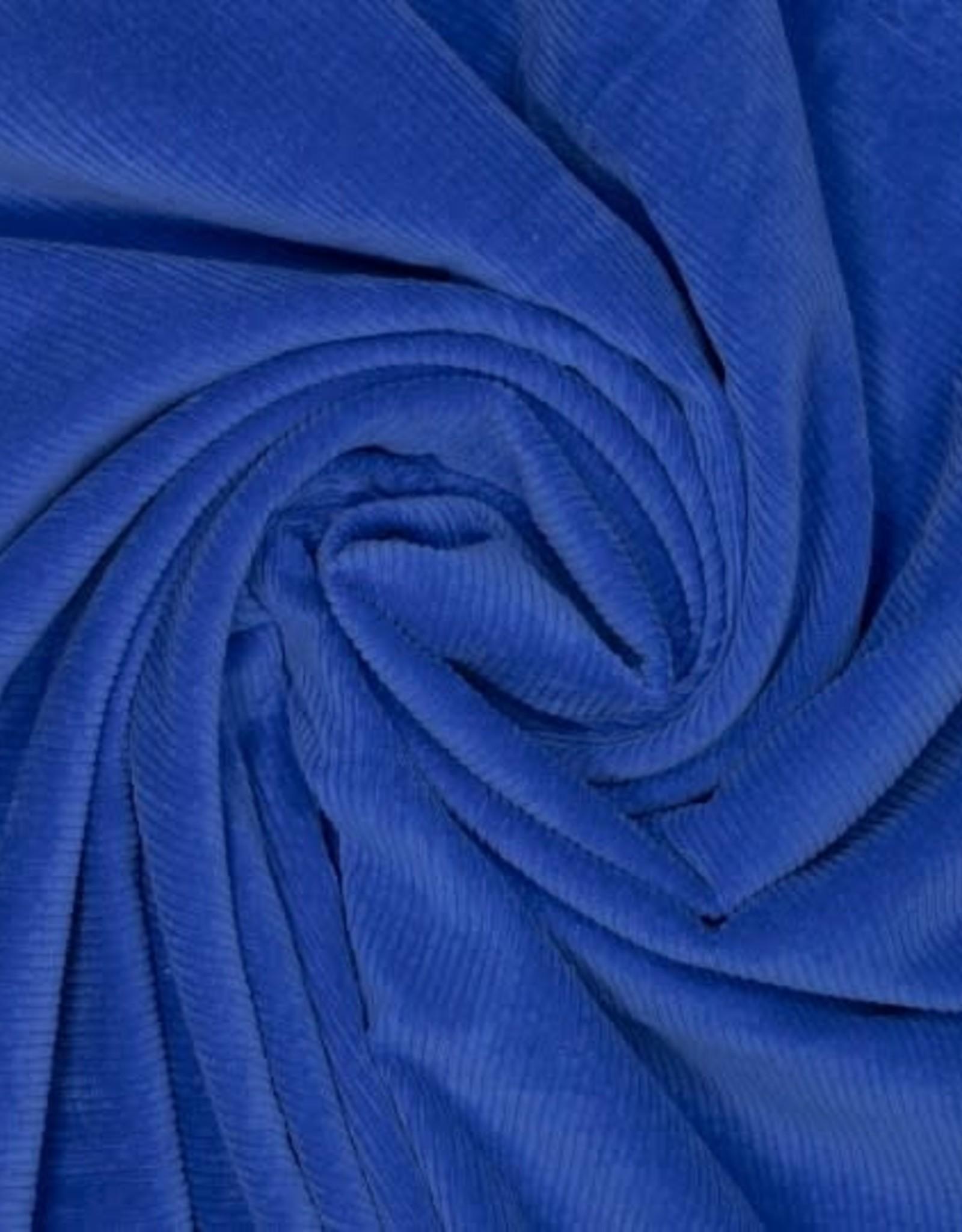 Geen merk Dazzling blue stretch corduroy