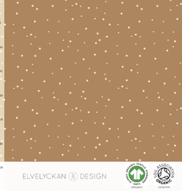 Elvelyckan Spots - ribbed knit - toffee