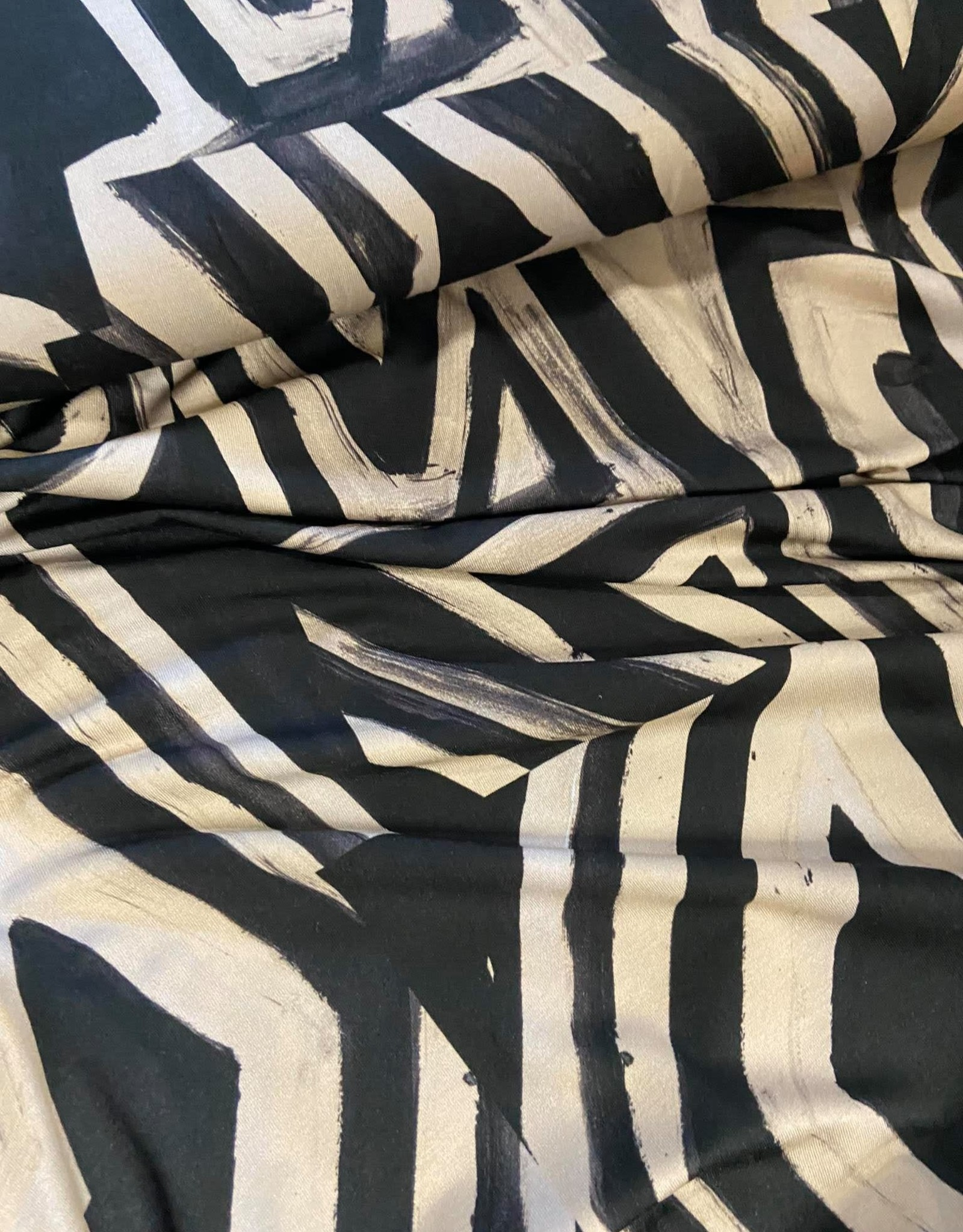 Geen merk Abstract beige/zwart