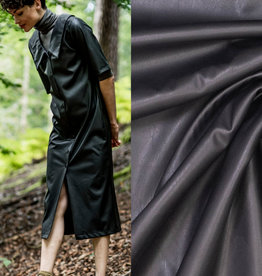 Fibremood Polyester leather zwart #Tilda   Leverbaar vanaf 24/09