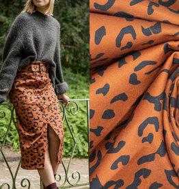 Fibremood Denim leopard print #Alida   Leverbaar vanaf 30/09
