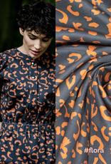 Fibremood Denim leopard print  Black brown