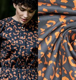 Fibremood Denim leopard print  Black brown #Flora
