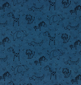 Geen merk Sweet animals blauw spons