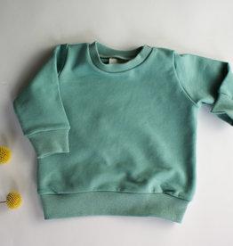 Stik-Stof Sweater zeegroen