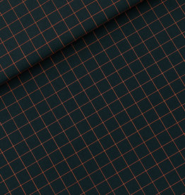 See You At Six Thin Grid - S - Cotton Canvas Gabardine Twill - Forest River