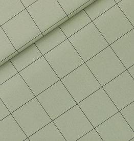 See You At Six Thin Grid - XL - Cotton Canvas Gabardine Twill - Tea Green