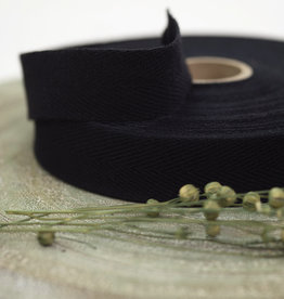 See You At Six Twill Tape - M - Cotton - Black