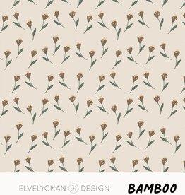 Elvelyckan Flowers - bamboo - creme