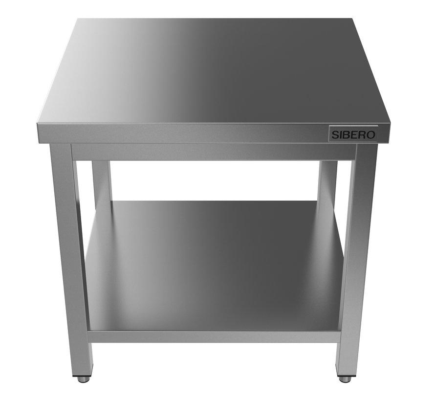 Werktafel - RVS - Met Onderblad - Demontabel - B 80 x D 70 x H 85